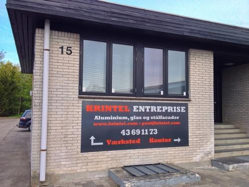 Krintel Entreprise værksted og kontor