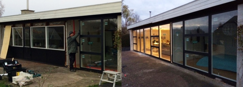 Facaderenovering med nye Velac døre og vinduer